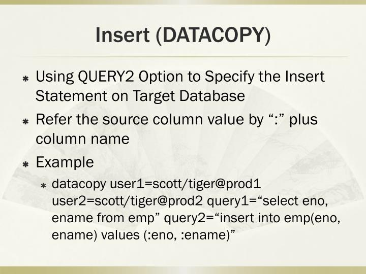 Insert (DATACOPY)