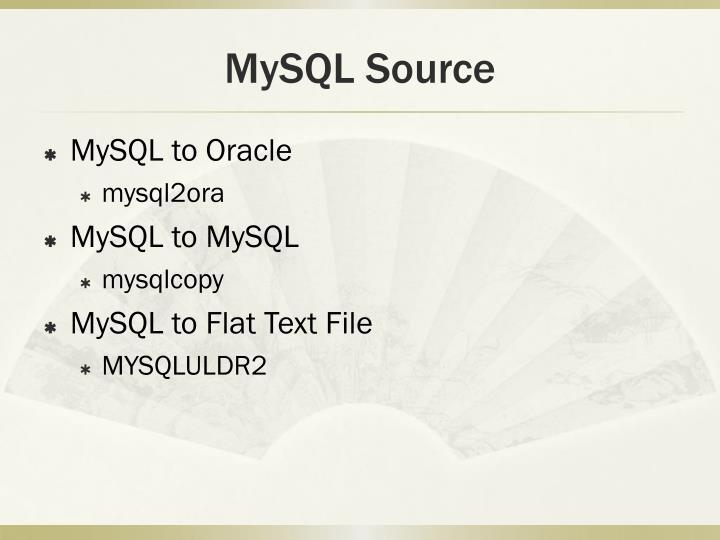 MySQL Source