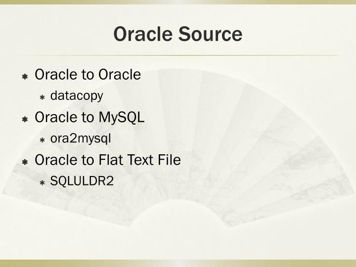 Oracle source