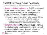 qualitative focus group research findings related to the affordances of the sms service1