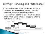 interrupt handling and performance