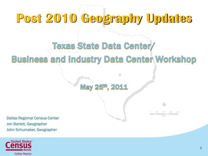 post 2010 geography updates
