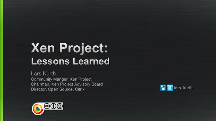 xen project lessons learned n.