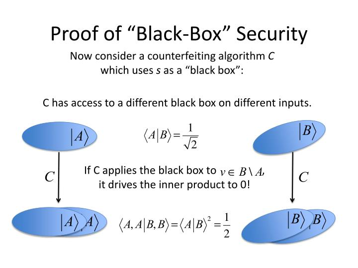 """Proof of """"Black-Box"""" Security"""