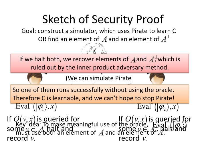 Sketch of Security Proof