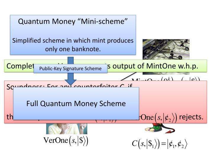 """Quantum Money """"Mini-scheme"""""""