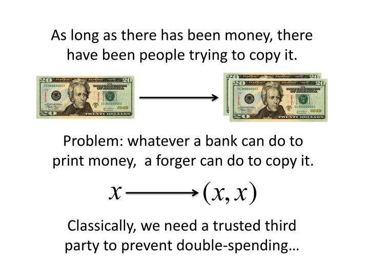As long as there has been money, there have been people trying to copy it.