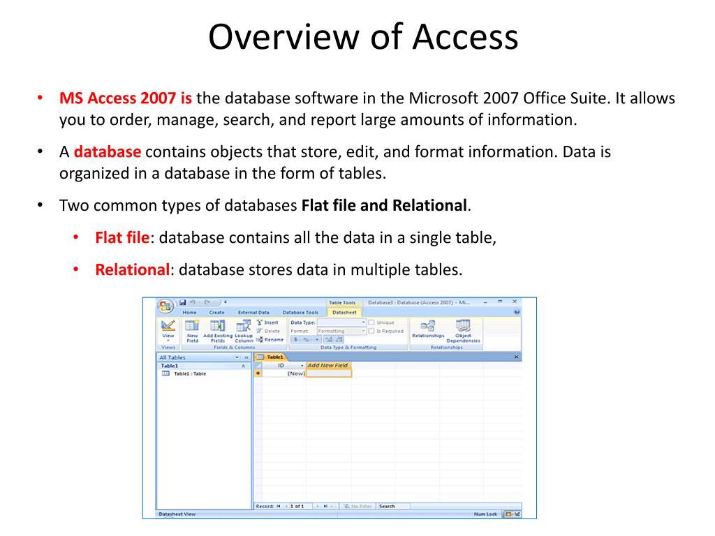 PPT - Microsoft Access 2007 PowerPoint Presentation - ID:1576764