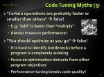 code tuning myths 3