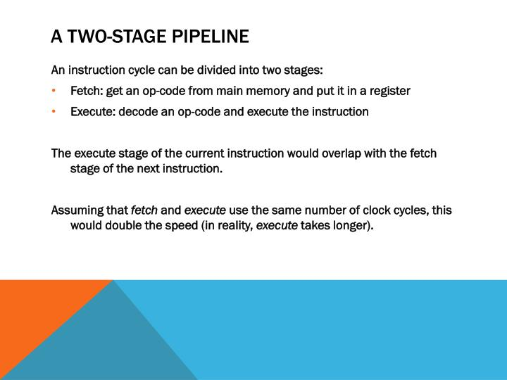 A Two-Stage Pipeline