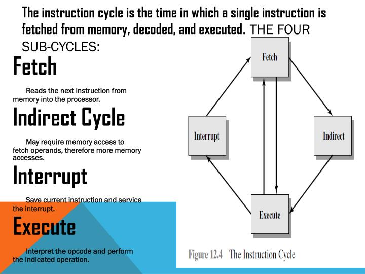 The instruction cycle