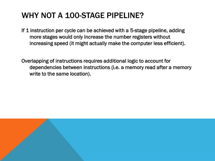 Why not a 100-Stage Pipeline?