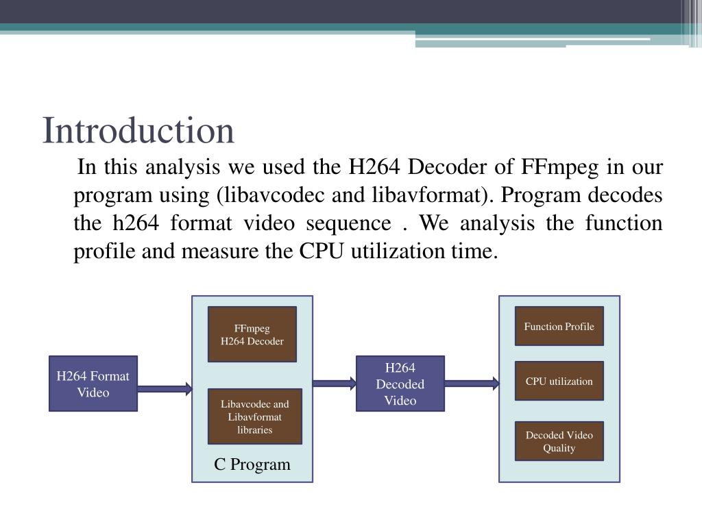 PPT - Performance Analysis H 264/AVC Decoder Using FFmpeg PowerPoint