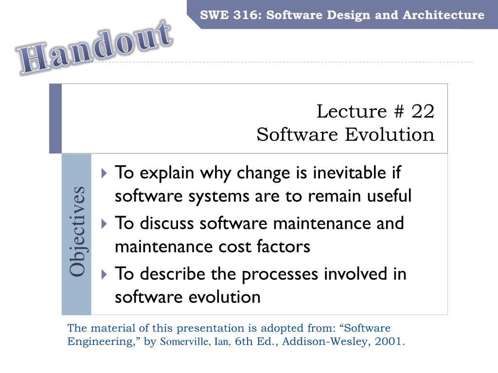 Ppt Lecture 22 Software Evolution Powerpoint Presentation Free Download Id 1576959