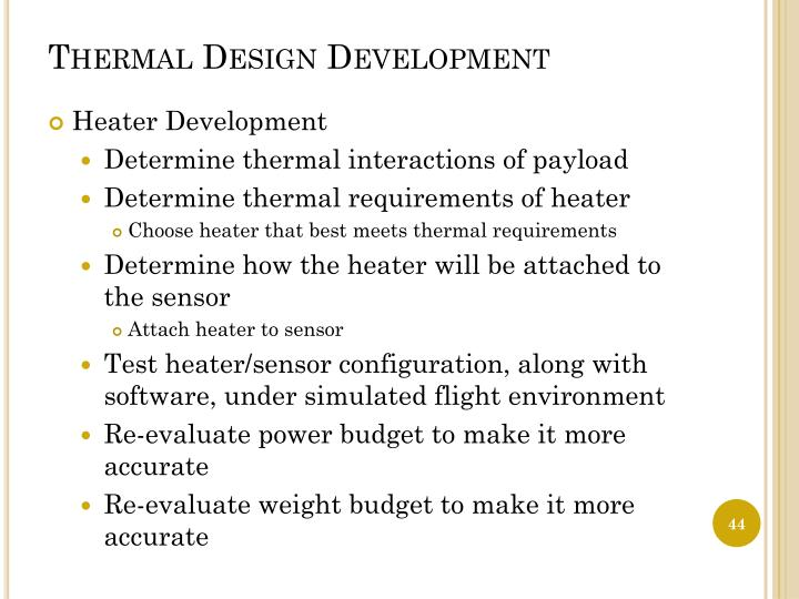 Thermal Design Development