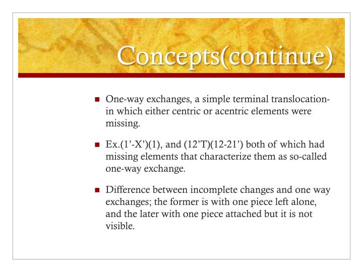Concepts(continue