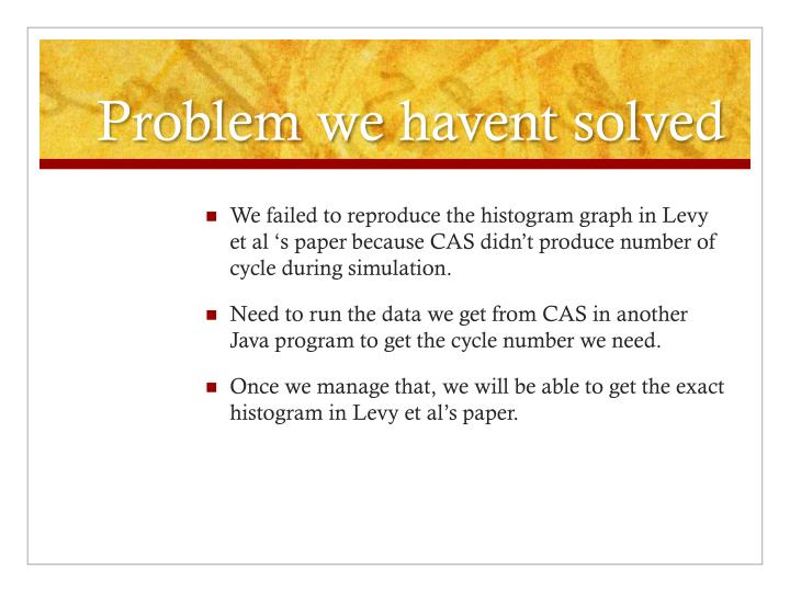 Problem we