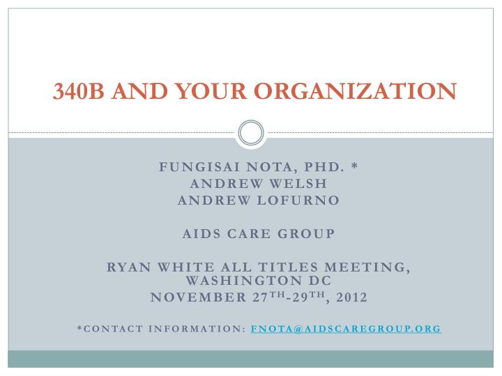 340b and your organization n.