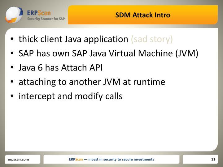 SDM Attack Intro