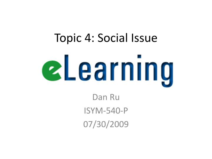 topic 4 social issue n.