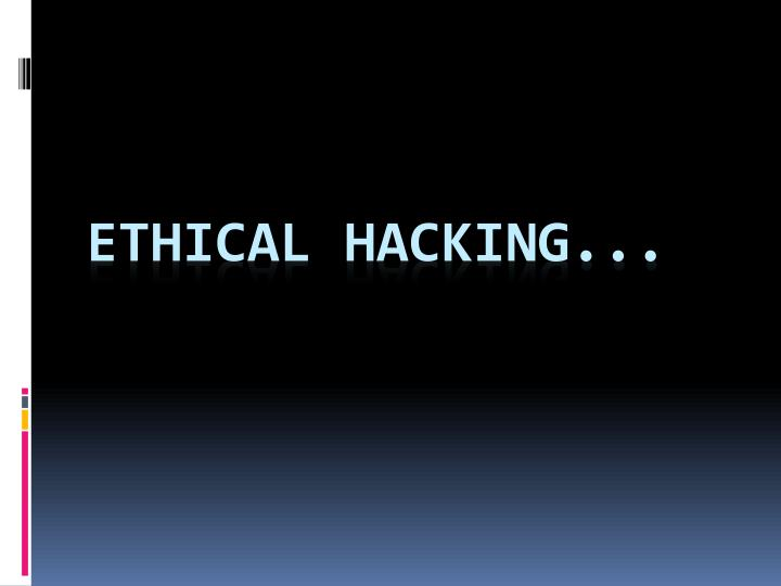 ethical hacking n.