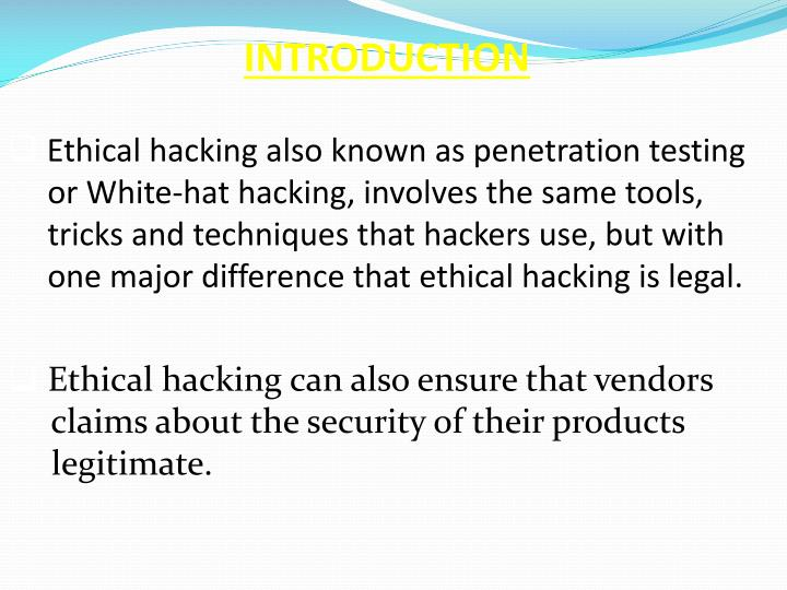 Ethical Hacking And Attacking Computer Science Essay  Homework  Ethical Hacking And Attacking Computer Science Essay Ethical Hacking  Introduction The Word Ethical Is Defined As