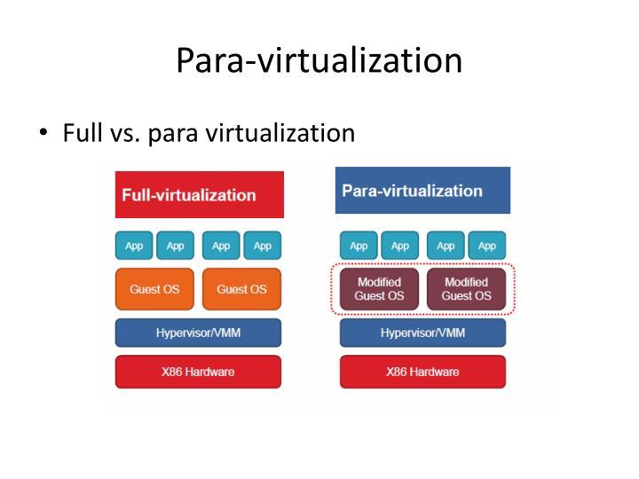 Para-virtualization