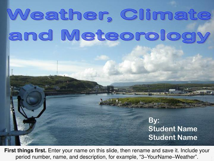 weather climate and meteorology n.
