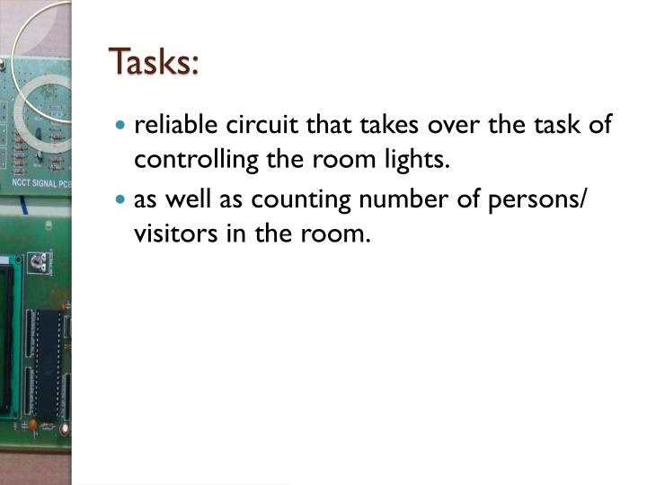 Ppt Automatic Room Light Controller With Bidirectional Visitor