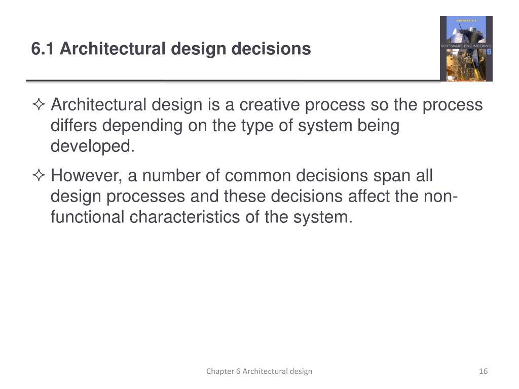 Ppt Chapter 6 Architectural Design Powerpoint Presentation Free Download Id 1577320