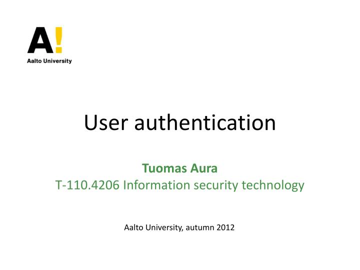 user authentication n.