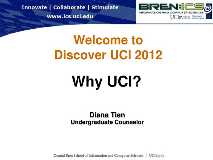 welcome to discover uci 2012 n.