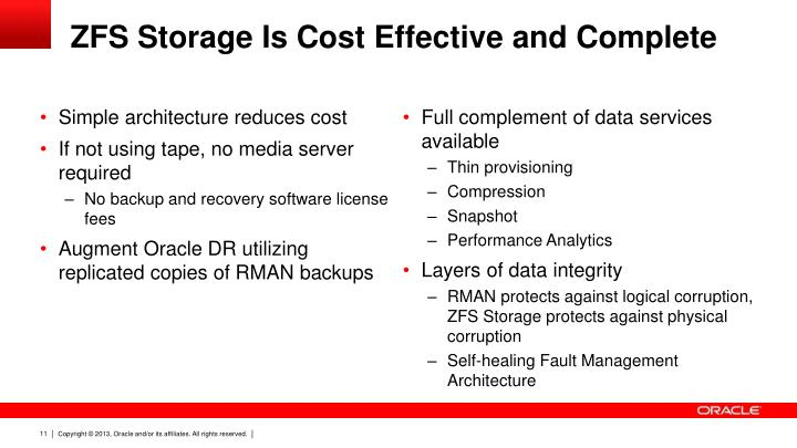ZFS Storage Is Cost Effective And Complete