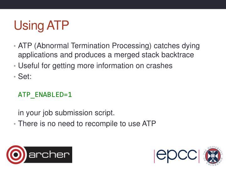 Using ATP