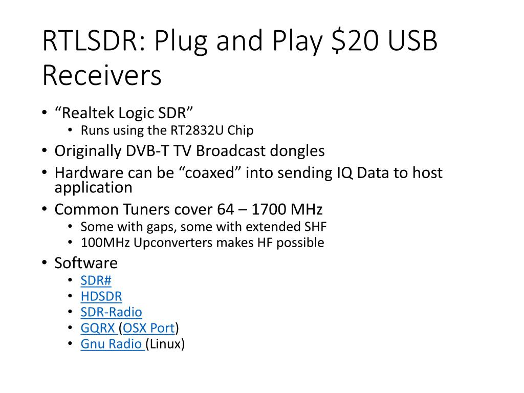 PPT - Software Defined Radio PowerPoint Presentation - ID