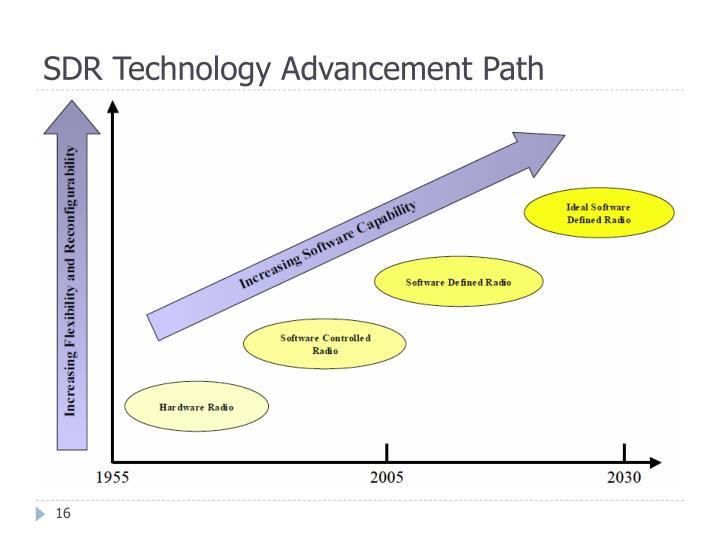 SDR Technology Advancement Path