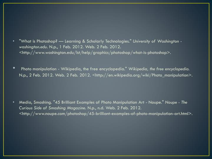 """""""What is Photoshop? — Learning & Scholarly Technologies."""""""