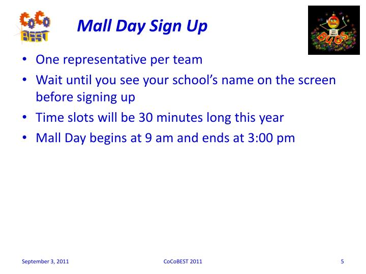 Mall Day Sign Up