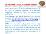 top placement college in gurgaon haryana