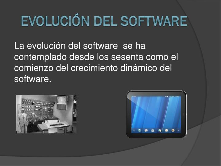 Evoluci n del software