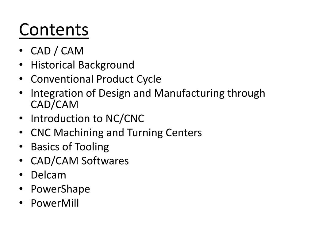 PPT - Introduction To CAD/CAM PowerPoint Presentation - ID