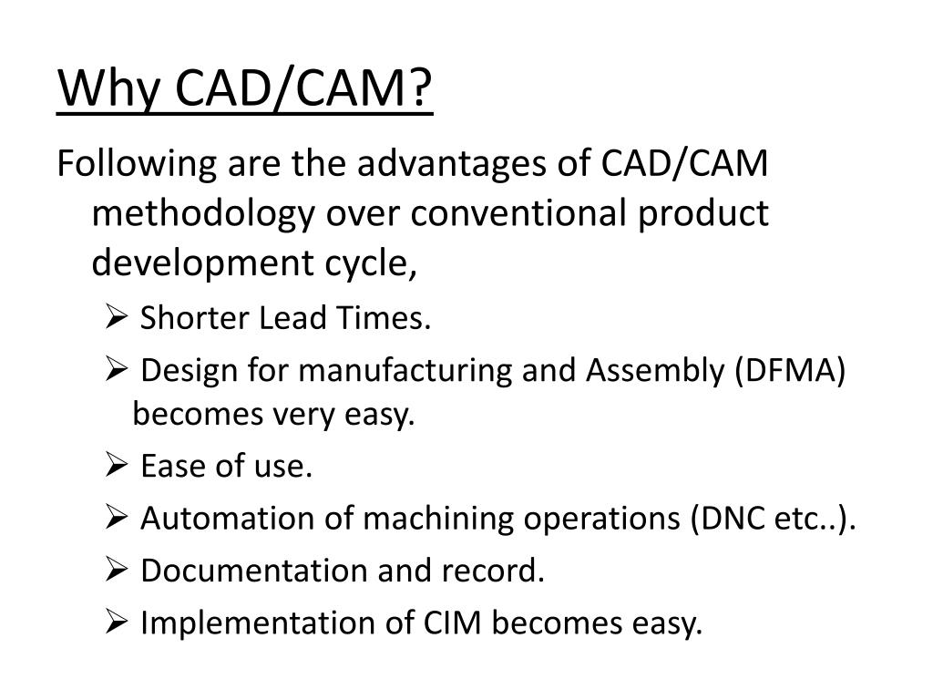 PPT - Introduction To CAD/CAM PowerPoint Presentation - ID:1577835