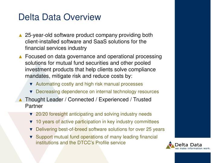 Delta Data Overview