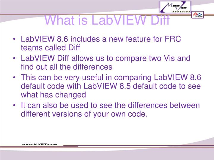 What is LabVIEW Diff