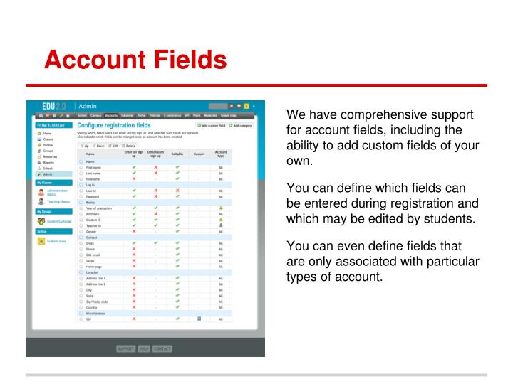 Account Fields