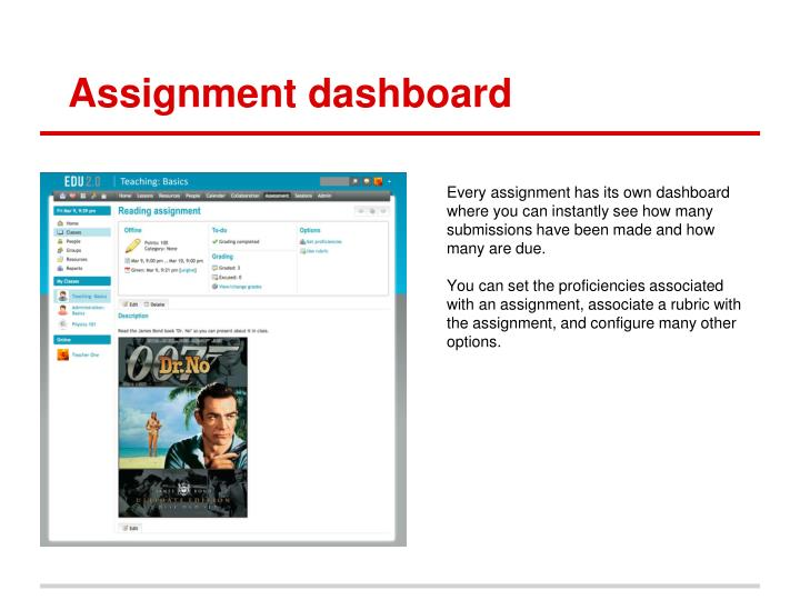 Assignment dashboard