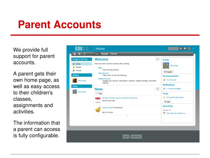 Parent Accounts