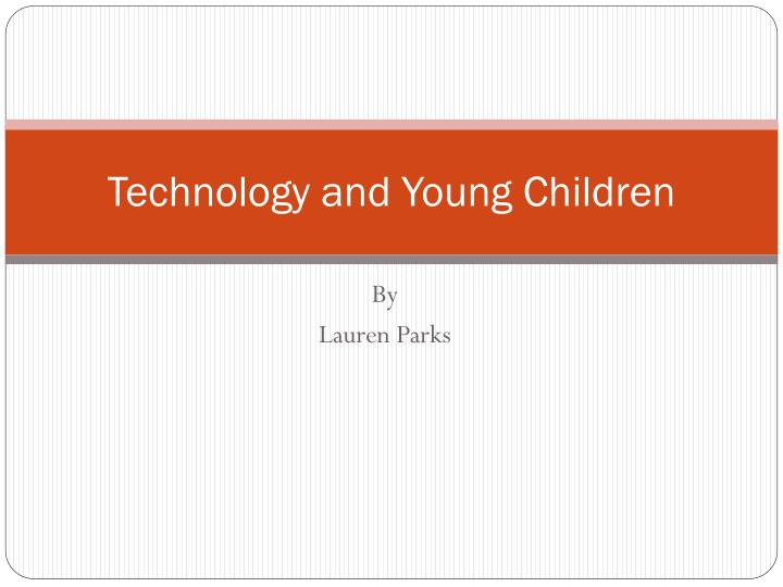 technology and young children n.