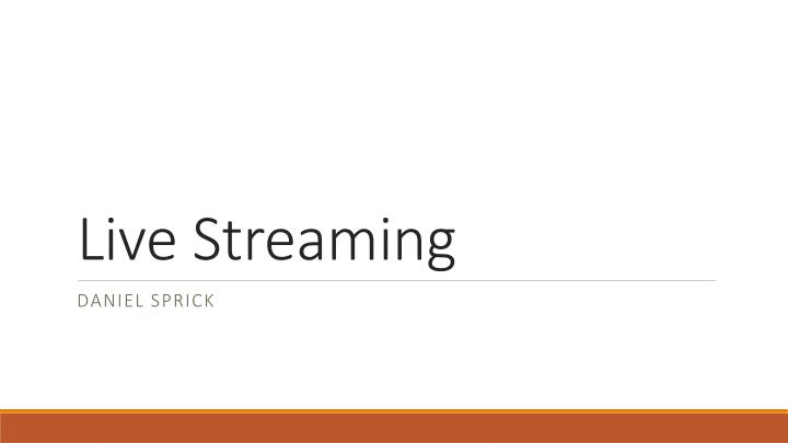 ppt - live streaming powerpoint presentation - id:1578242, Presentation templates