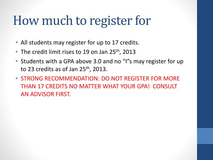 How much to register for